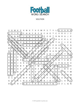 Football Word Search - Super Bowl Activity by Puzzles to ...