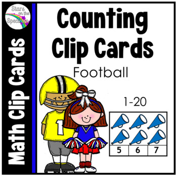 Counting 1-20 * Football *Math Clip Cards Center