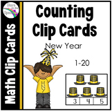 New Years 2018 (Counting Clip Cards 1-20)