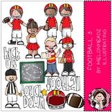 Football 3 clip art - COMBO PACK - Melonheadz Clipart