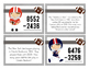 Football 4 Digit Subtraction Task Cards