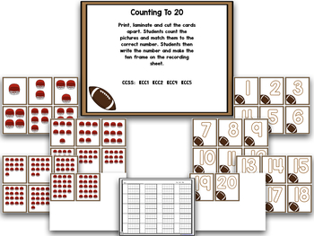 Football!  A Super Bowl Of Math and Literacy!  A Common Core Creation!