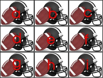 Football ABC Letter and Sound Match