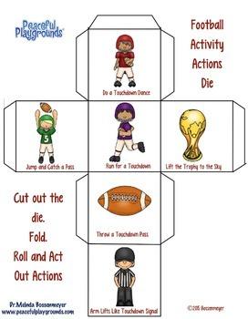 Football Activity Dice