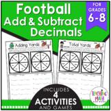 Football Adding & Subtracting Decimals Activity