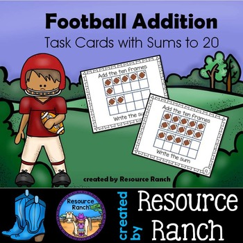 Football Addition Activity Task Cards