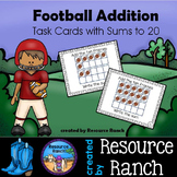 Football Addition Activity Task Cards