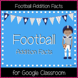 Football Addition Facts (Great for Google Classroom!)