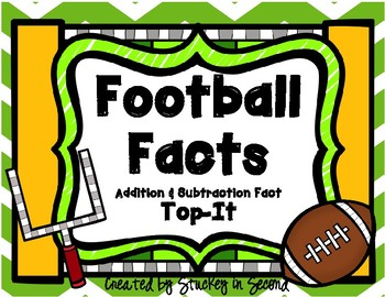 Football Addition and Subtraction Top It