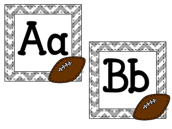 Football Alphabet Headers