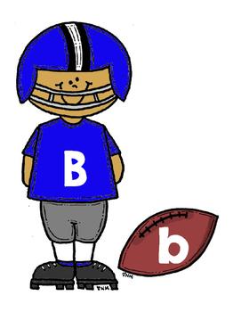 Alphabet Letter Match--Football Theme