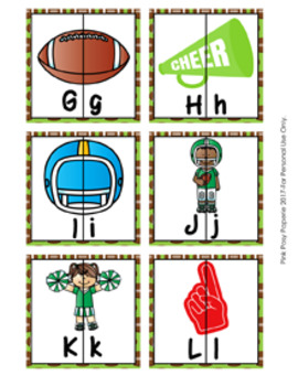 Football Alphabet Letter Match Puzzles
