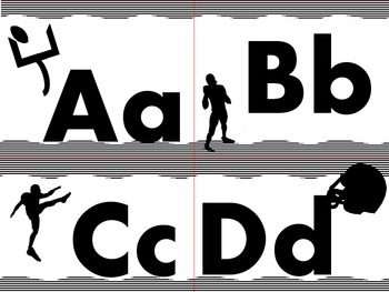 Football Alphabet (Word Wall Tags)