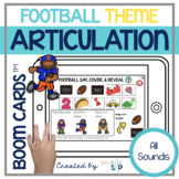 Football Articulation Activities Boom Cards™️   Speech Therapy   Teletherapy