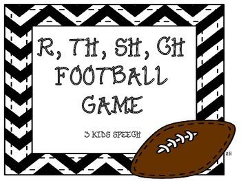 Football Articulation Game - R, SH, CH, TH