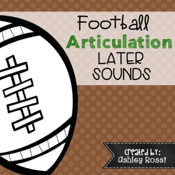 Articulation Football Theme For Speech Therapy