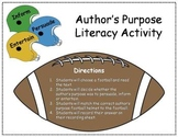Football Author's Purpose Literacy Center