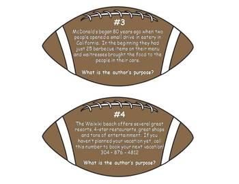 Football Author's Purpose Literacy Center