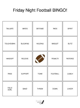 Football BINGO general edition