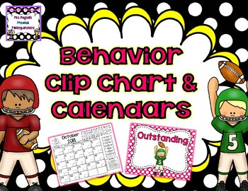 Football Behavior Clip Chart