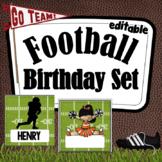 Football Birthday ~ Editable