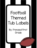 Football, Black & White Striped Labels - Dull or Sharp Pencil, Sub Tub, Birthday