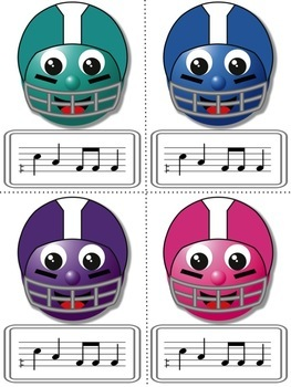 Football Blitz!  Melodic Games for Practicing do