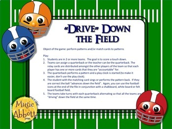 Football Blitz!  Melodic Games for Practicing low so