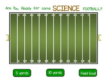Football Board Game Template for Science