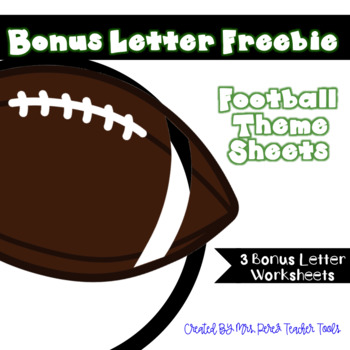 Football Bonus Letter Freebie