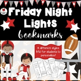 Football printable bookmarks to color