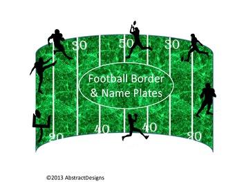 Football Border and Name Plates