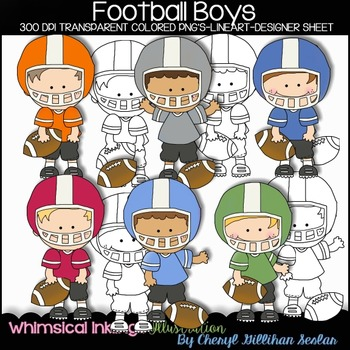 Football Boys Clipart Collection