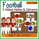 Football Build 3 Addend Adddition & Subtraction Number Sentences
