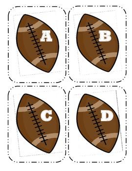 Football Capital Alphabet Flash Cards
