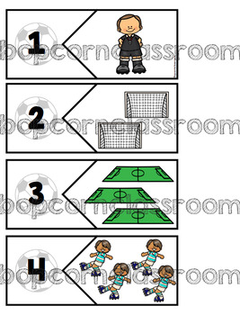 Football - Cartes à pinces et puzzles