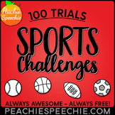 Sports Challenges for 100 Repetitions by Peachie Speechie