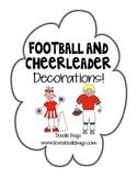 Football & Cheerleader Door Decorations for Student Names
