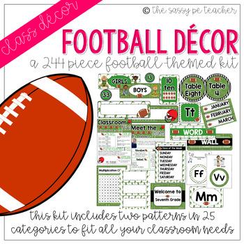 Football Classroom Decor Pack