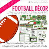 Football Classroom Decor Pack