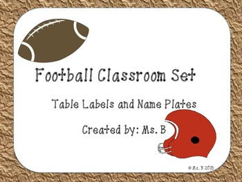 Football Classroom Set