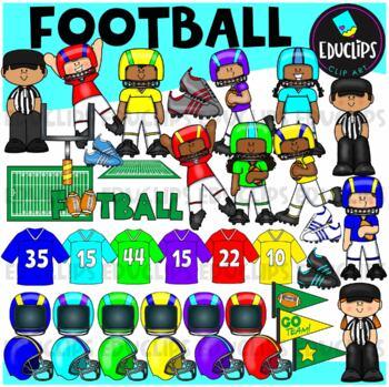Football Clip Art Bundle {Educlips Clipart}