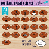 Football Clip Art, Football Faces, Football Characters, Fo