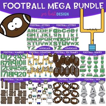 Football Clip Art - Football Mega BUNDLE {jen hart Clip Art}