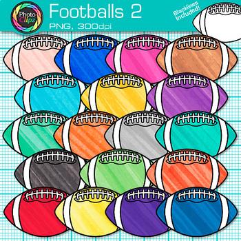 Football Clip Art | Rainbow Sports Equipment for Physical Education Teachers 2
