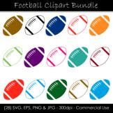 Football Clipart Bundle - Multi-Color Footballs