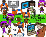 Football Clipart - Girls Playing and Watching Football Clipart