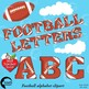 Football Clipart Letters and Numbers Combo Bundle, {Best Teacher Tools} AMB-1725