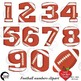 Football Clipart Letters and Numbers Combo Bundle, AMB-1725