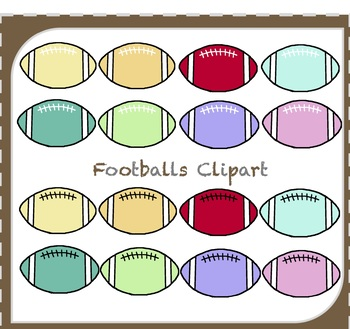 Football Clipart / Sports Clipart